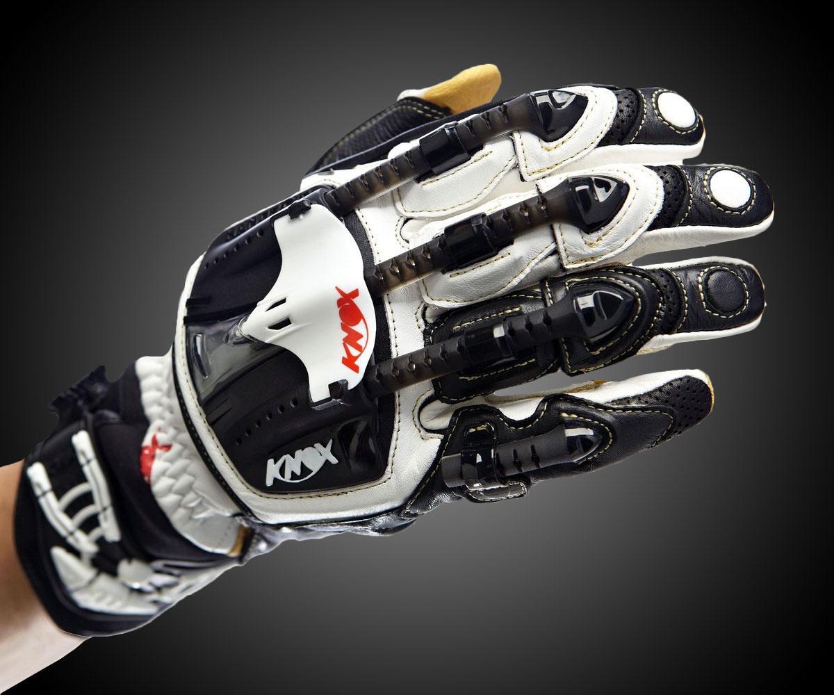 Motorcycle gloves exoskeleton - Led Pen Light Knox Handroid Hand Armor Gloves