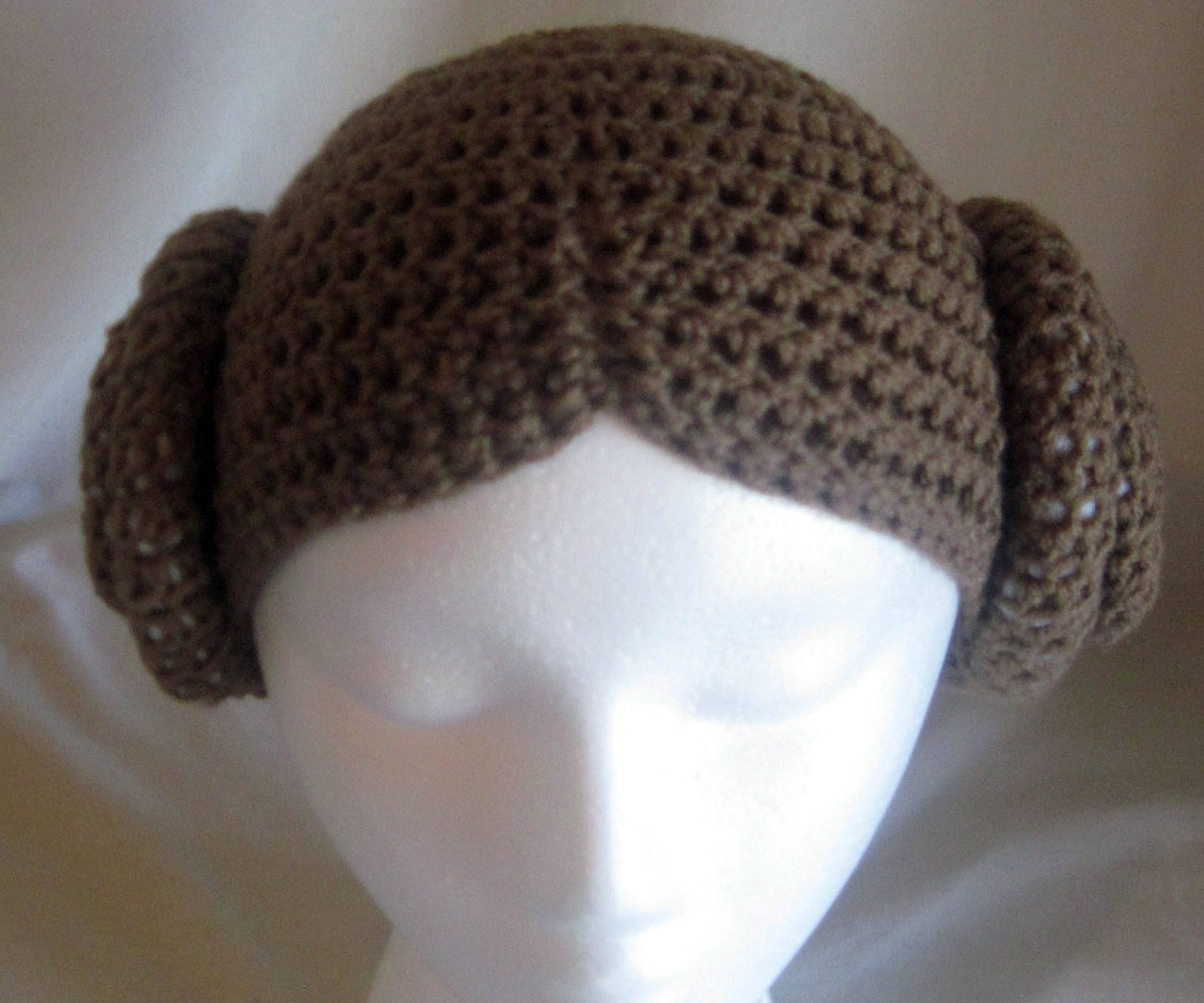 ... Princess Leia Beanie - Top View 55fbe54b395