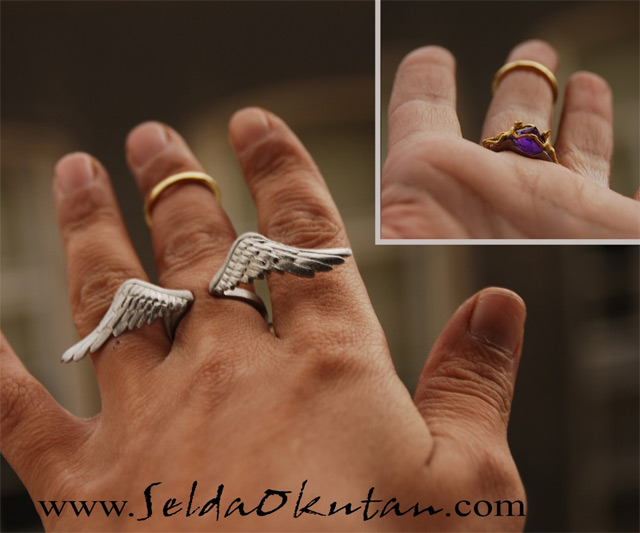 8mm Wedding Ring 60 Cute  Angel Ring Angel