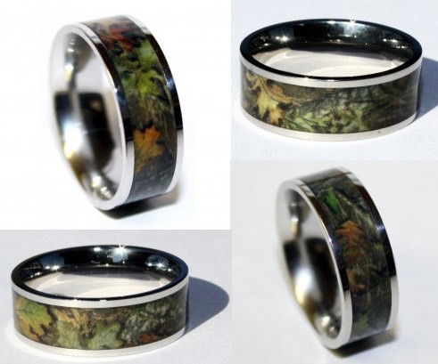 camo titanium ring camo titanium ring - Camouflage Wedding Rings