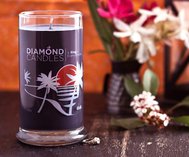 diamond ring candles