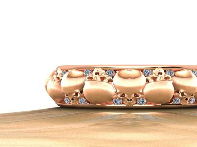 St Louis Wedding Band 31 Good  Diamond Skull Rings