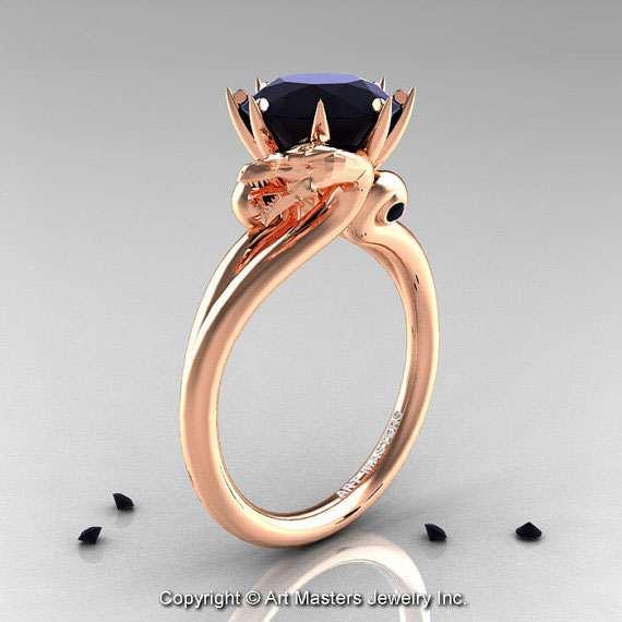 Italian Wedding Band 27 Simple  Dragon Rings Dragon