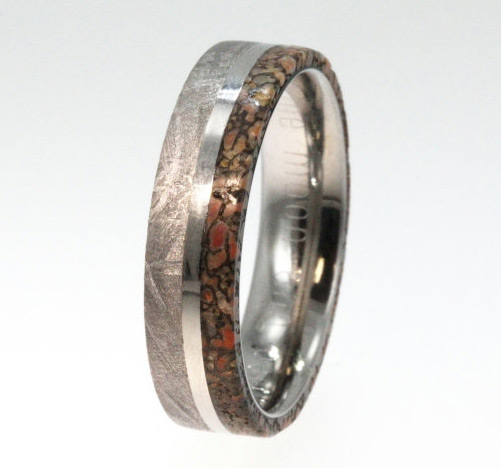 band bands gibeon meteorite wedding ring jewelry collections by tungsten johan fossil rings with dinosaur bone meteor