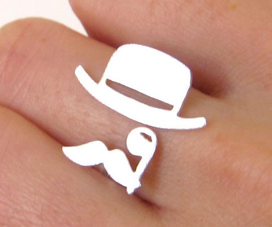Mens Baseball Wedding Rings 58 Nice  Mr Mustache with