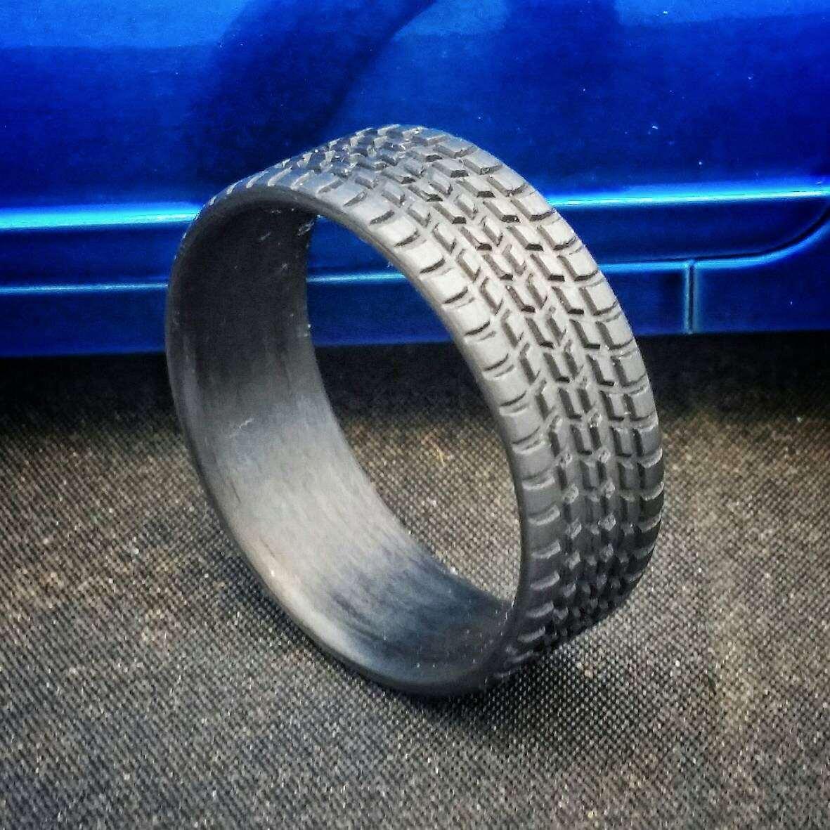 Tire Tread Wedding Band 5 Simple  Off Road Tread