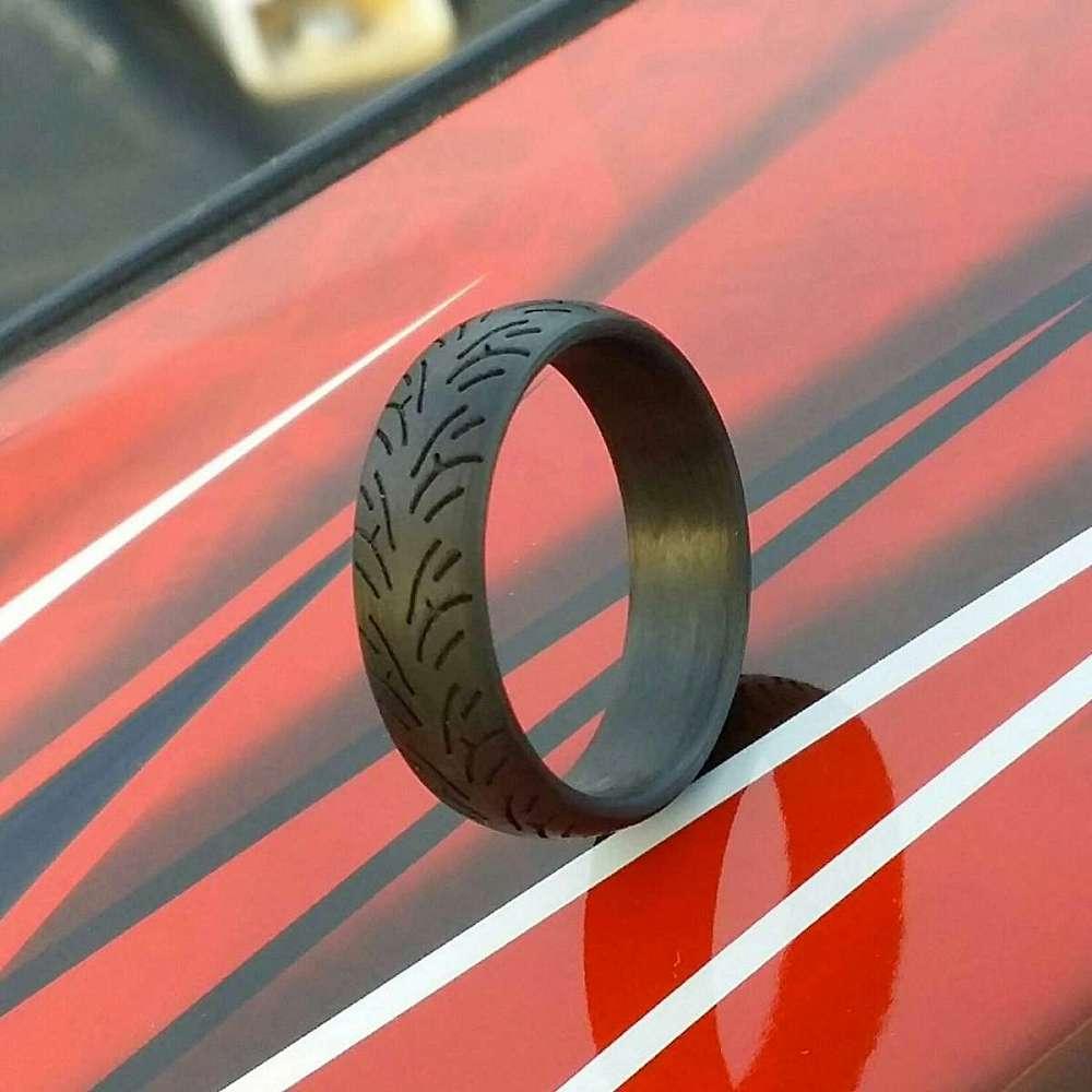 Tire Tread Wedding Band 11 Fresh  Off Road Tread