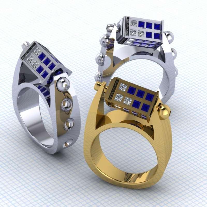Tire Tread Wedding Bands 54 Marvelous TARDIS Ring TARDIS Ring