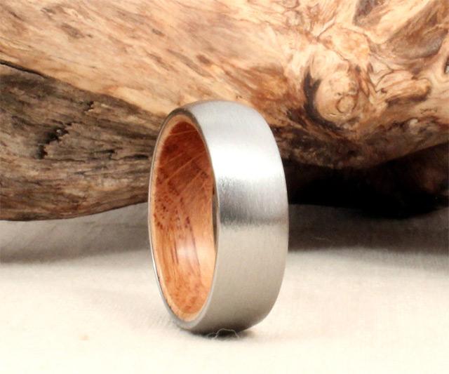 Wooden Inlay Wedding Bands 30 Good  Titanium u Jack
