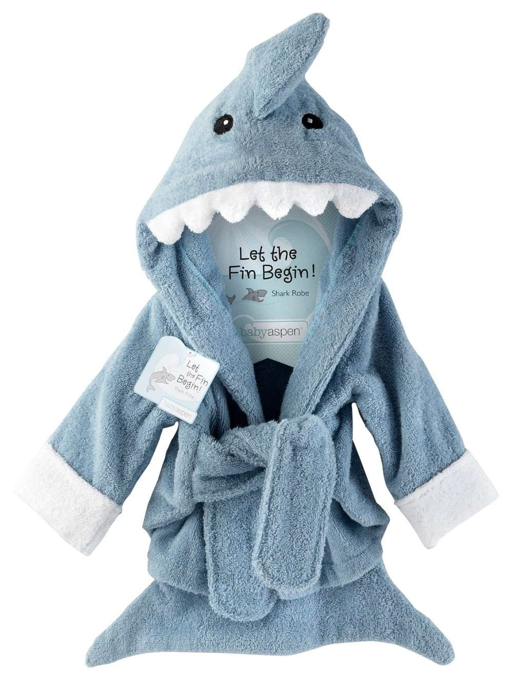 variety design big selection outlet boutique Baby Blue Terry Shark Robe