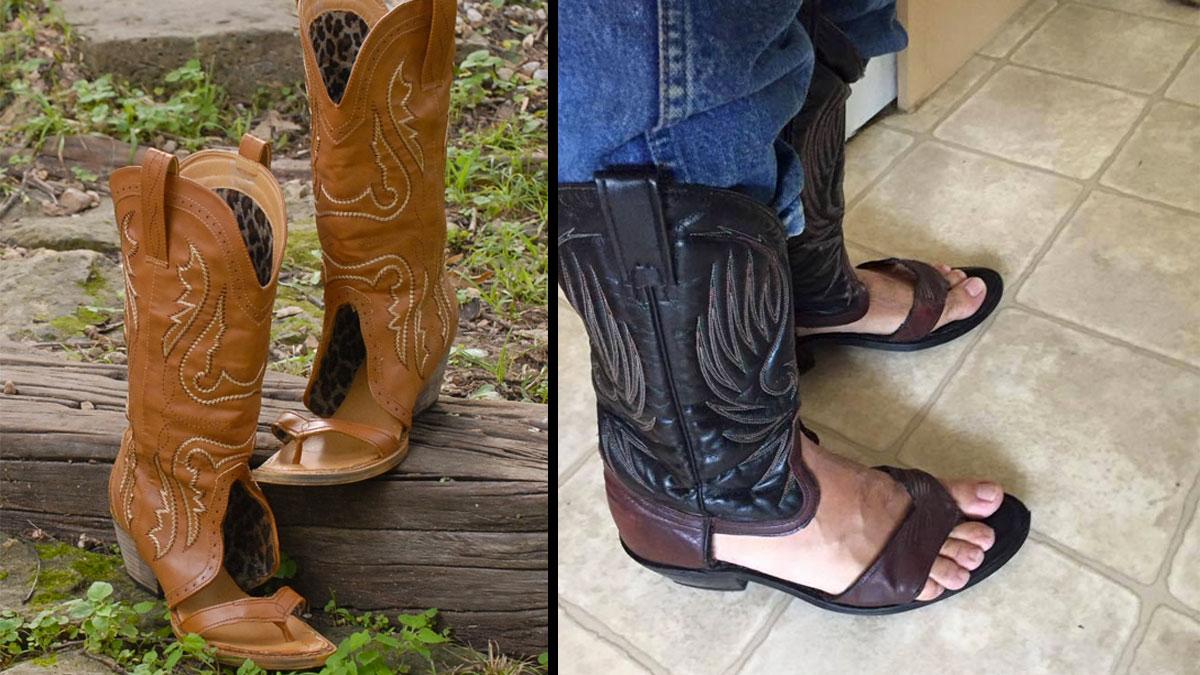 598f7bdcca10 ... Redneck Boot Sandals · Redneck Boot Sandals