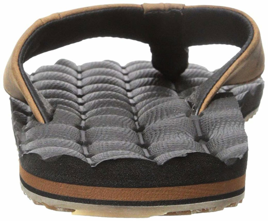 f84d66acc Volcom Men s Recliner Leather Flip-Flops