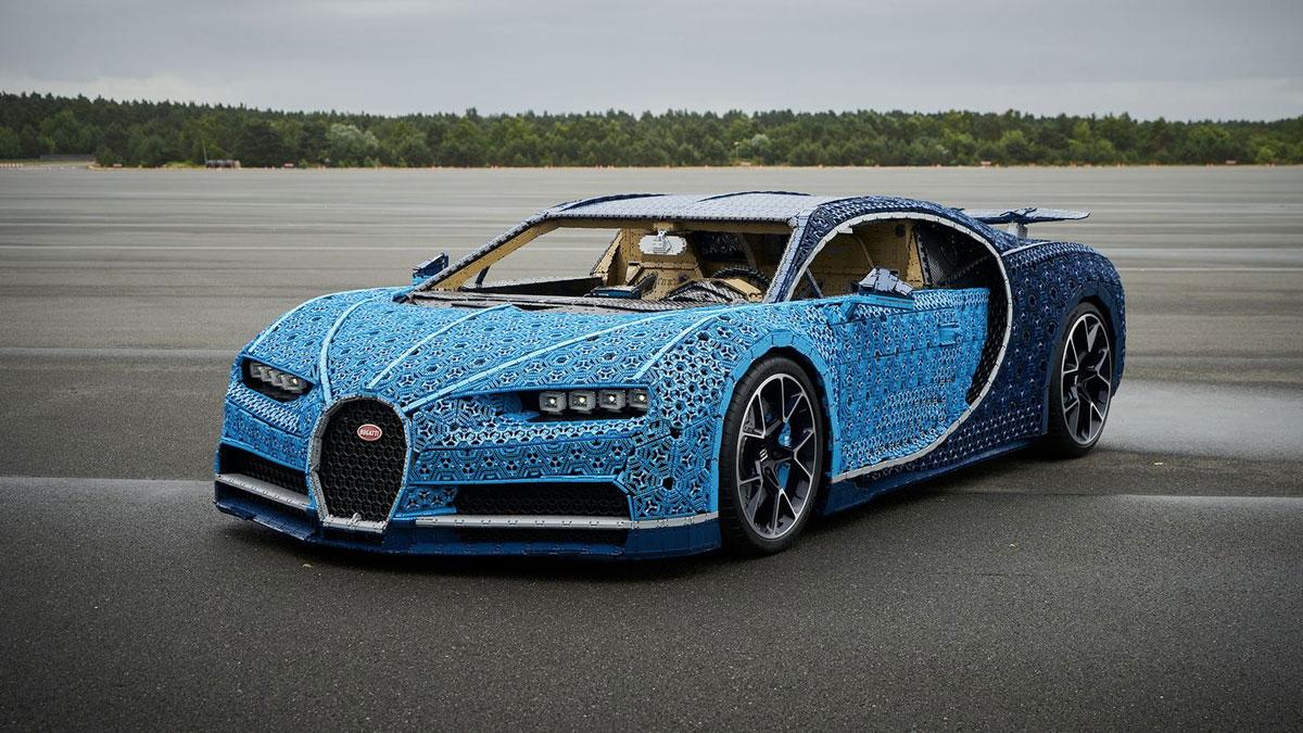 Drivable 1:1 LEGO Technic Bugatti Chiron