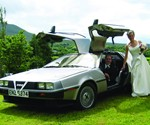 Back to the Future DeLorean Wedding Rental