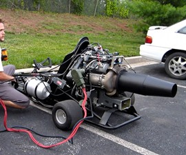Boeing Jet Powered Go Kart