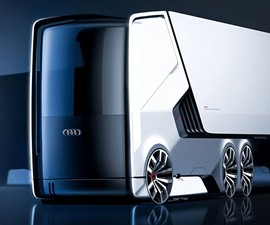 Self-Driving Electric Truck Concept