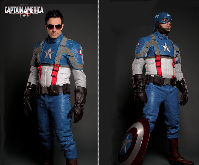 Captain America Motorcycle Suit