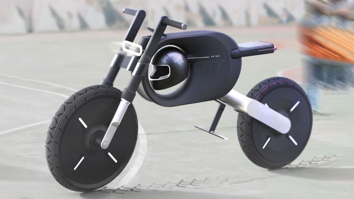 City E-Bike Electric Motorcycle Concept
