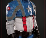 Midsection of Captain America Motorcycle Suit