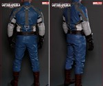 Back of Captain America Motorcycle Suit