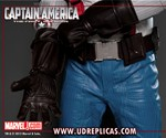 Closeup of Captain America Motorcycle Suit