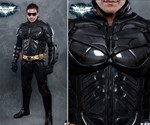 The Dark Knight Rises Motorcycle Suit - Front & Closeup Views