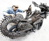 Alien Motorcycle - Back View
