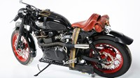 Steampunk Motorcycle with Firing Machine Guns