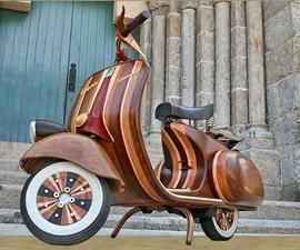 Custom Wood Vespa