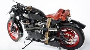 Steampunk Motorcycle with Firing Machine Guns