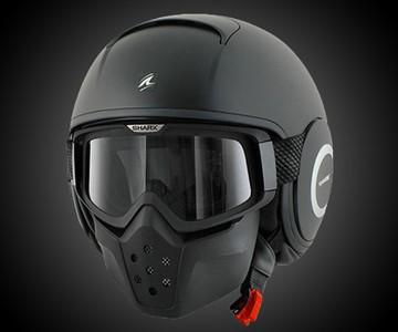 Shark RAW Blank Motorcycle Helmet