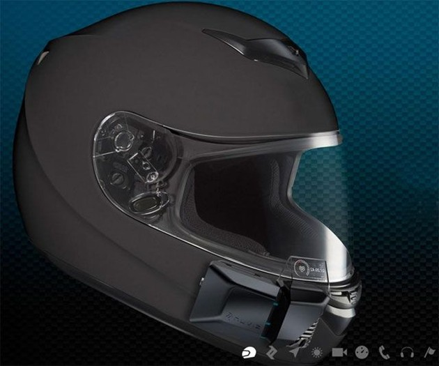 NUVIZ HUD for Motorcycle Helmets