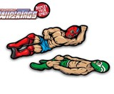 Luchador Wrestling Wiper Tags