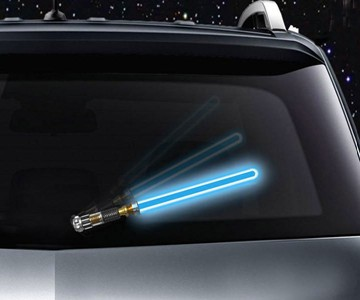 Reflective Lightsaber Windshield Wiper Tag