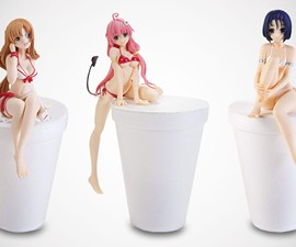 Sexy Instant Noodle Lid Stopper Figurines