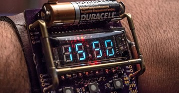 ChronodeVFD: Cyberpunk Wristwatch