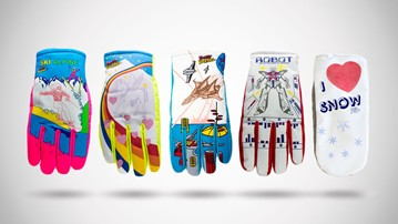 Freezy Freakies Retro Color-Changing Adult Snow Gloves