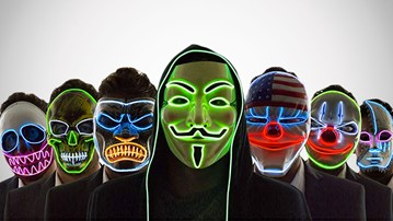 Neon Nightlife Scary Light-Up Masks