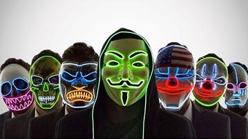 Neon Nightlife Scary Light-Up Masks
