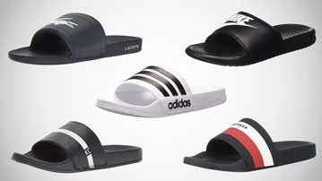 Adidas Adilette Shower Embossed Logo Slides for Men True