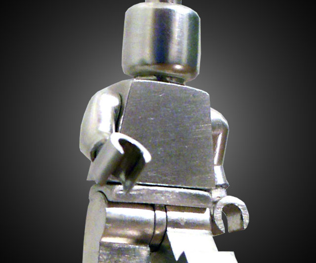 Poseable Sterling Silver LEGO Minifig | DudeIWantThat.com