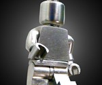 Poseable Sterling Silver LEGO Minifig