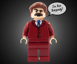 Ron Burgundy LEGO Minifigure