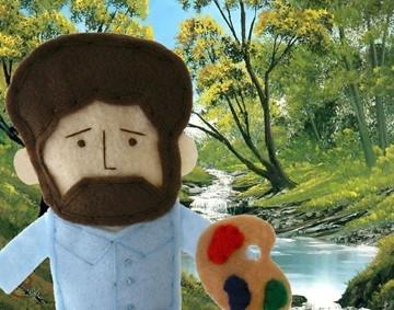 Bob Ross Finger Puppet