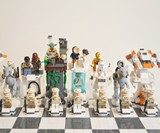 Planet Hoth LEGO Chess Set - Figure Front View