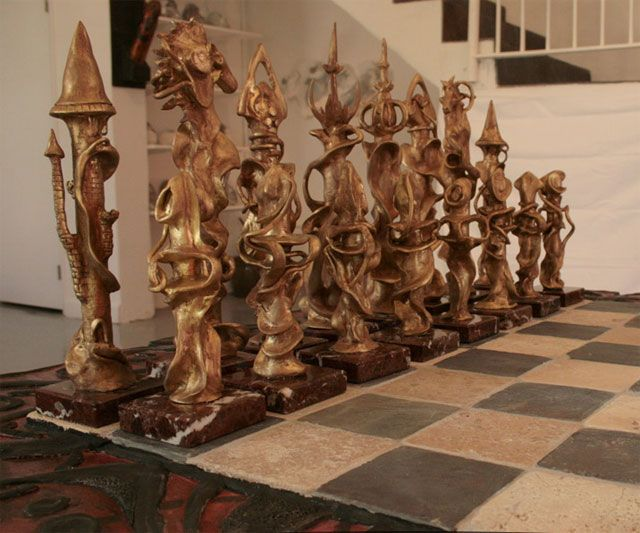 The King Must Die Hand Carved Chess Set