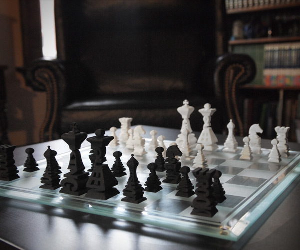 Typographical Chess Set Dudeiwantthat Com