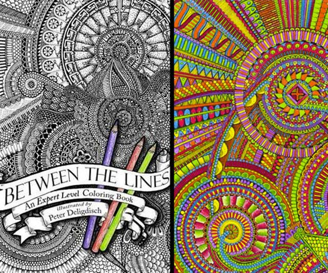 between the lines an expert level coloring book - Outside The Lines Coloring Book