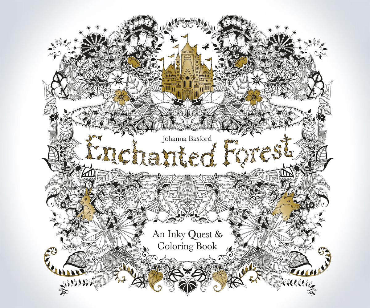 Enchanted Forest An Inky Quest and Coloring Book by Johanna Basford 2015 PB