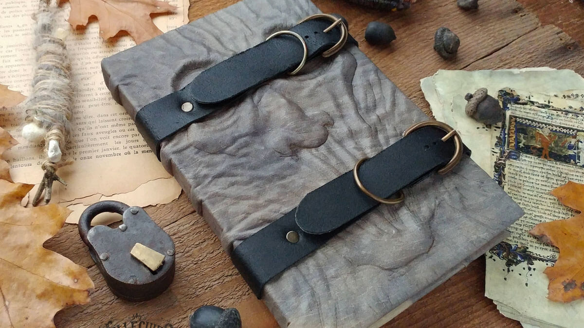 Handmade Leather Grimoires
